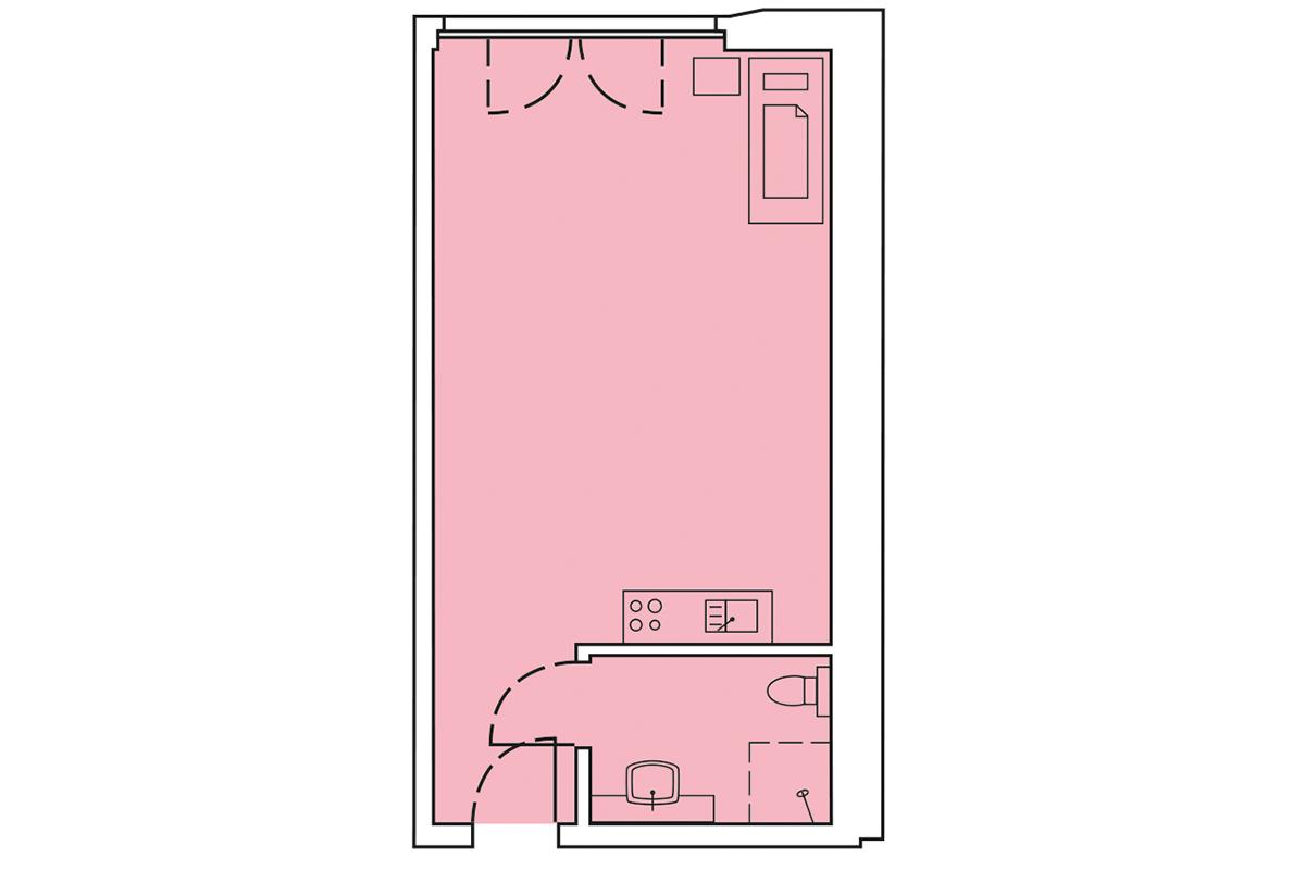Grundriss Wohnung 58m²