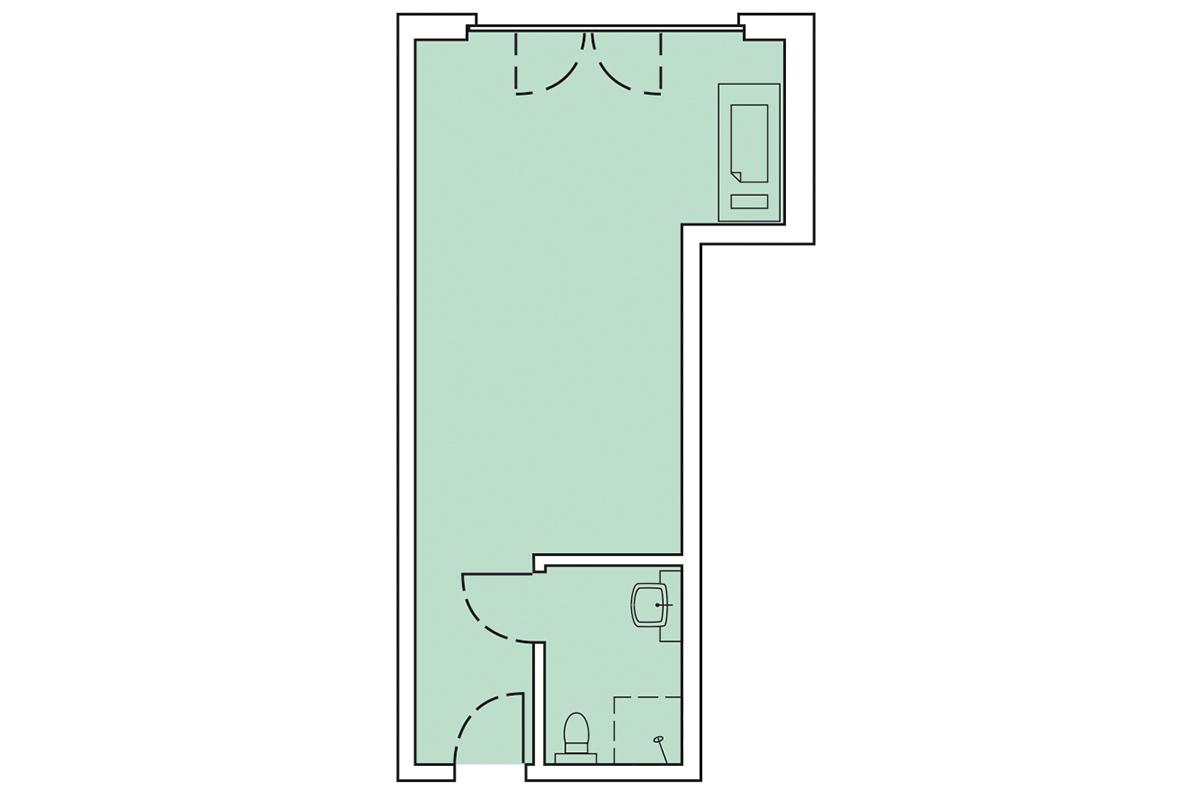 Grundriss Wohnung 53m²