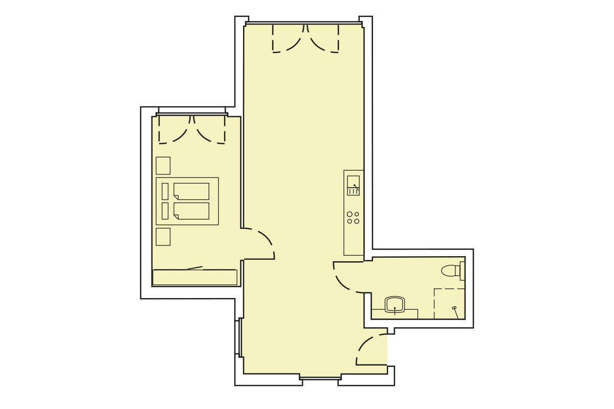 Grundriss Wohnung 72m²